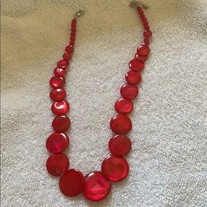Jewelry - Red Oval Beautiful Necklace